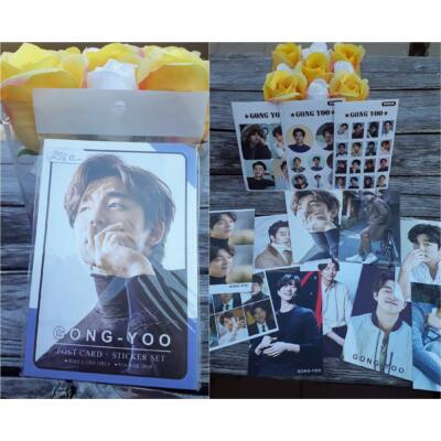 Gong Yoo - képeslap és matrica csomag