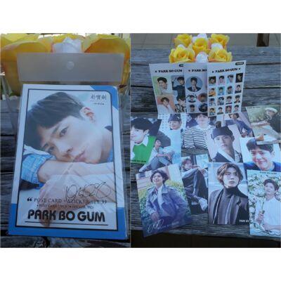 Park Bo Gum - képeslap és matrica csomag