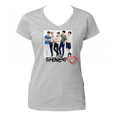 Shinee - V-nyakú póló